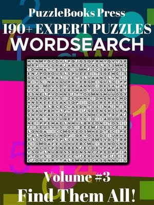 cover image of PuzzleBooks Press WordSearch – Volume 3
