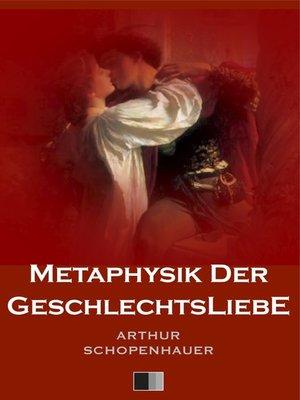 cover image of Metaphysik der Geschlechtsliebe