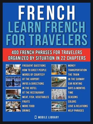 cover image of French--Learn French for Travelers