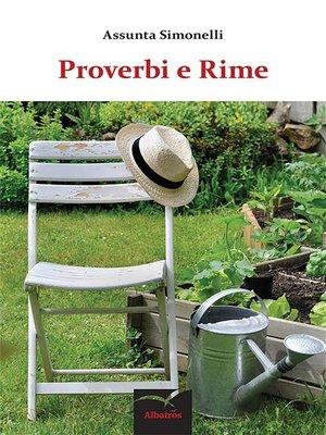 cover image of Proverbi e Rime