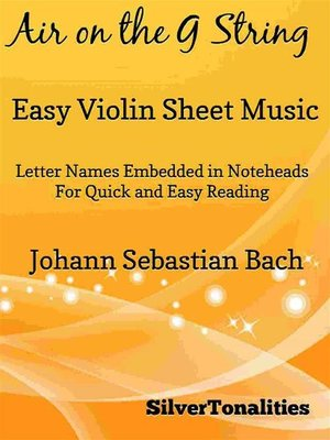 cover image of Air on the G String Easy Violin Sheet Music
