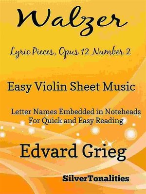 cover image of Walzer Lyric Pieces Opus 12 Number 2 Easy Violin Sheet Music