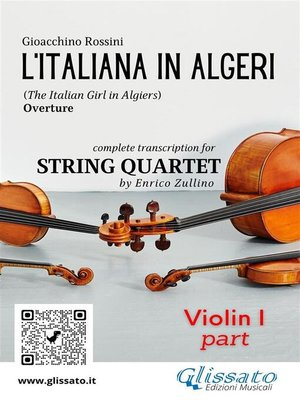cover image of L'Italiana in Algeri (overture) String Quartet set of Parts