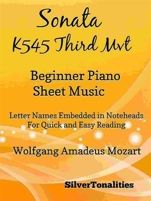 cover image of Sonata K545 Third Movement Beginner Piano Sheet Music PDF