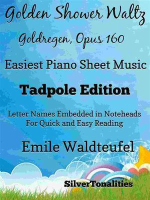 cover image of Golden Shower Waltz Easiest Piano Sheet Music Tadpole Edition