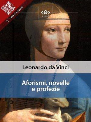 cover image of Aforismi, novelle e profezie