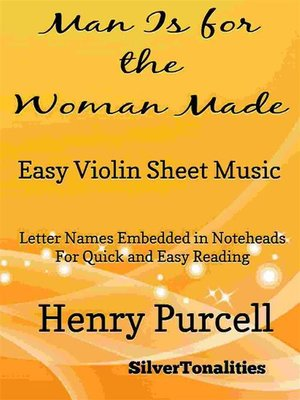 cover image of Man Is for the Woman Made Easy Violin Sheet Music