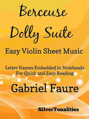 cover image of Berceuse Dolly Suite Easy Violin Sheet Music