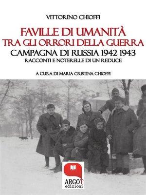 cover image of Faville di umanità tra gli orrori della guerra