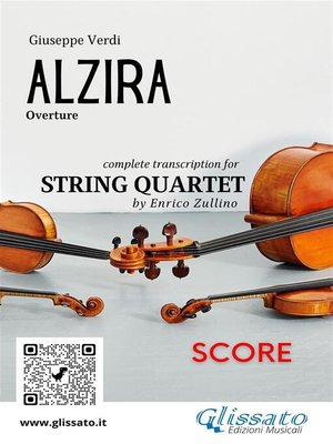 cover image of Alzira (overture) score