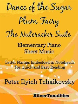 cover image of Dance of the Sugar Plum Fairy Nutcracker Suite Elementary Piano Sheet Music