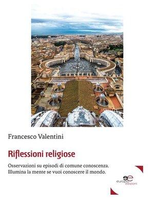 cover image of Riflessioni religiose