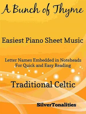cover image of A Bunch of Thyme Easiest Piano Sheet Music