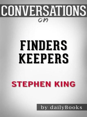 cover image of Finders Keepers--A Novel (The Bill Hodges Trilogy) byStephen King| Conversation Starters