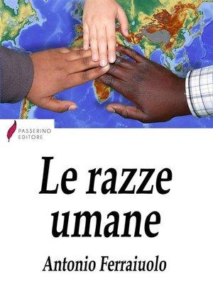 cover image of Le razze