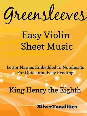 cover image of Greensleeves Easy Violin Sheet Music