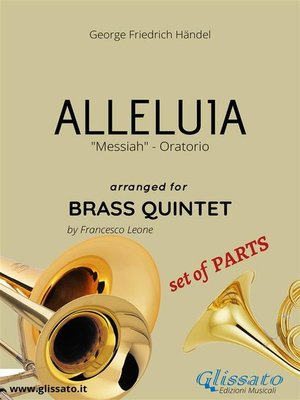 cover image of Alleluia by Handel--brass quintet--set of PARTS