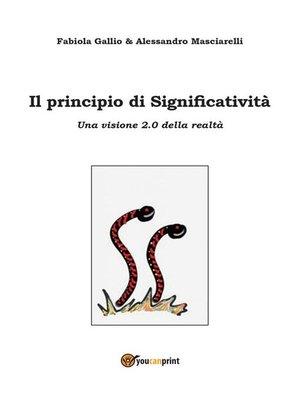 cover image of Il principio di Significatività