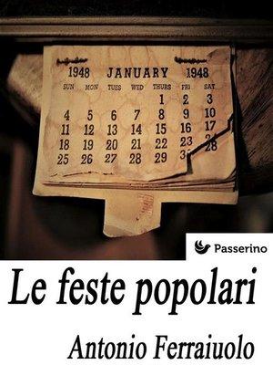 cover image of Le feste popolari