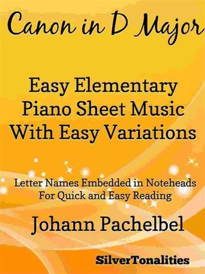 cover image of Canon in D Major Elementary Piano With Easy Variations Sheet Music