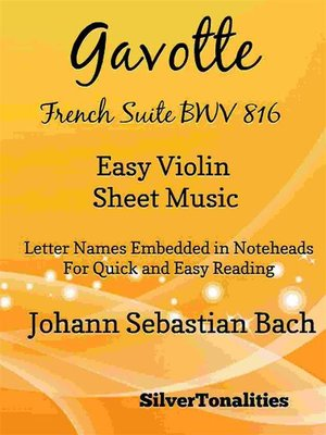 cover image of Gavotte French Suite BWV 816 Easy Violin Sheet Music