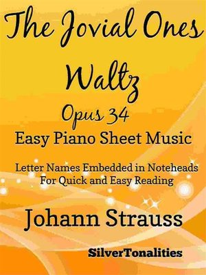 cover image of The Jovial Ones Waltz Opus 34 Easy Piano Sheet Music