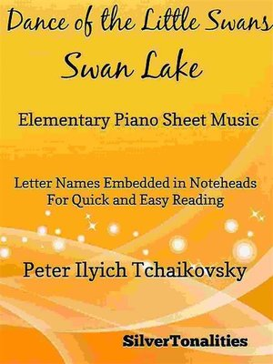 cover image of Dance of the Little Swans Elementary Piano Sheet Music