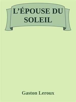 cover image of L'épouse du Soleil
