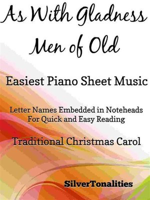 cover image of As With Gladness Men of Old Easiest Piano Sheet Music