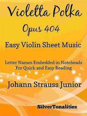 cover image of Violetta Polka Opus 404 Easy Violin Sheet Music