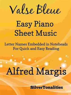 cover image of Valse Bleue Easy Piano Sheet Music