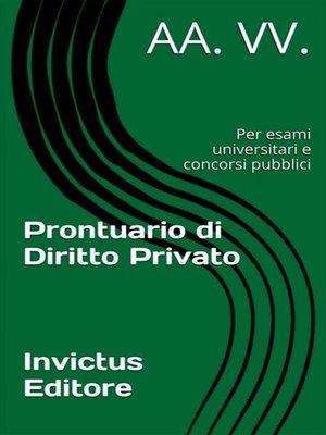 cover image of Prontuario di diritto privato