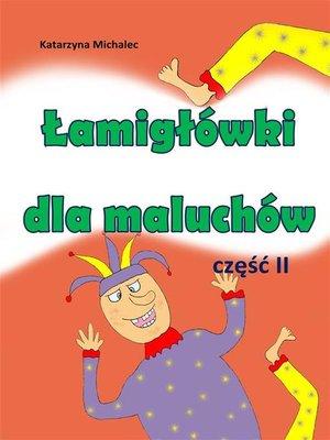 cover image of Łamigłówki dla maluchów 2