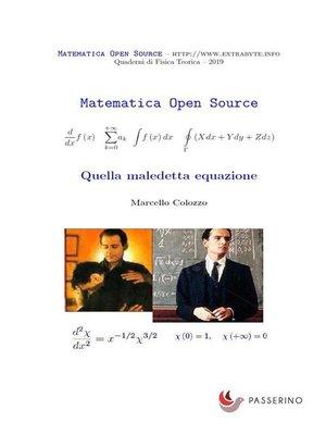cover image of Quella maledetta equazione