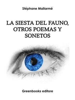 cover image of La siesta del fauno, otros poemas y sonetos