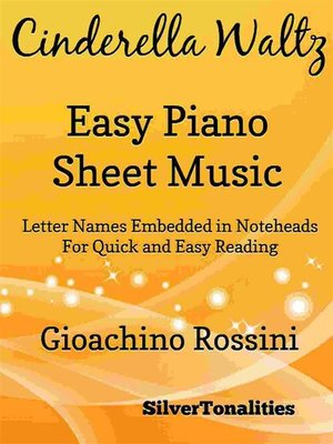 cover image of Cinderella Waltz Easy Piano Sheet Music