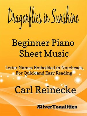 cover image of Dragonflies in Sunshine Beginner Piano Sheet Music Tadpole Edition