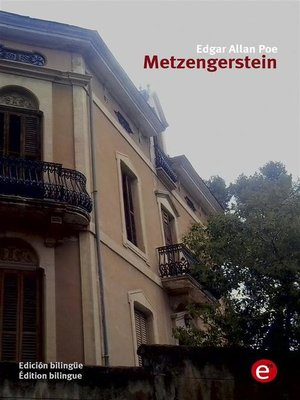 cover image of Metzengerstein (edición bilingüe/édition bilingue)