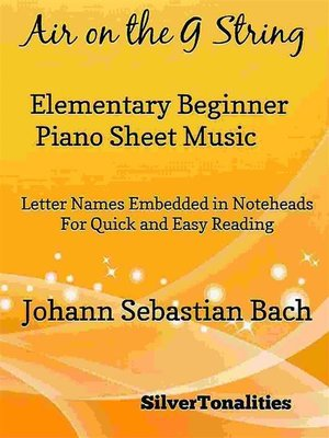 cover image of Air on the G String Elementary Beginner Piano Sheet Music