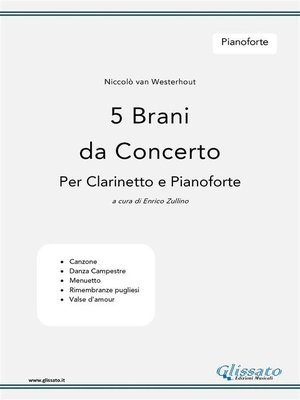 cover image of 5 Brani da Concerto (N.van Westerhout) Volume Pianoforte
