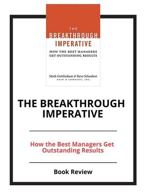 cover image of The Breakthrough Imperative