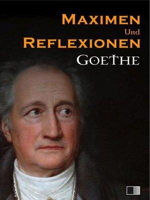 cover image of Maximen und Reflexionen