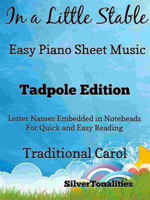cover image of In a Little Stable Easy Piano Sheet Music Tadpole Edition