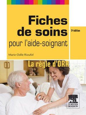 cover image of Fiches de soins pour l'aide-soignant