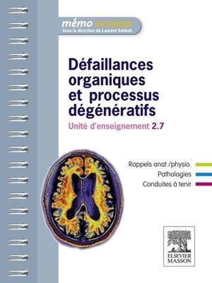 cover image of Défaillances organiques et processus dégénératifs