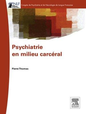 cover image of Psychiatrie en milieu carcéral