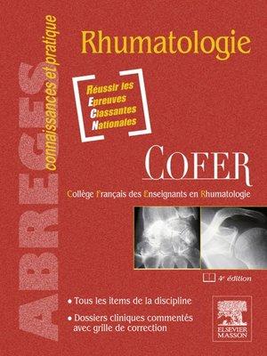 cover image of Rhumatologie