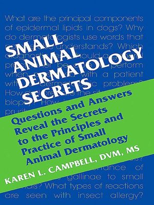 cover image of Small Animal Dermatology Secrets E-Book