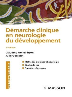 cover image of Démarche clinique en neurologie du développement