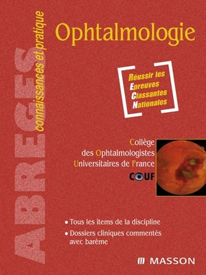 cover image of Ophtalmologie